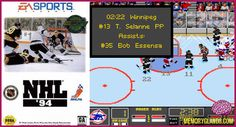 funny hockey nhl video game sega genesis