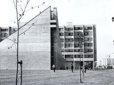 Teachers' Training College St Josef (1966-69) in Regensburg, Germany, by Franz Kiessling