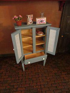 Dollhouse Miniature Artisan Palmer Daugherty Pie Cupboard with Legs