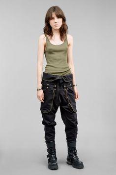 Multiple pockets military trouser