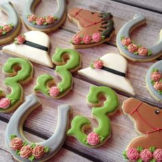 Derby theme 3rd birthday! #decoratedcookies... - Flying Squirrel Cookies