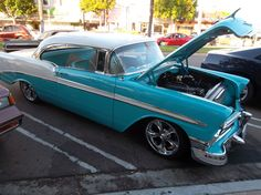 Baby Blue Hot Rod Free Stock Photo - Public Domain Pictures