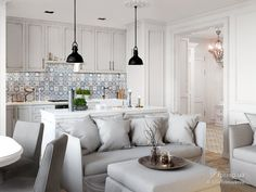 White provence interior, Julia Trintsukova, Кухня, Дизайн интерьеров Formo.ua