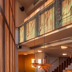Interior of Price Tower Bartlesville Oklahoma by Frank Lloyd Wright #architect #archilovers #architecture #architexture #architecturelovers #architectonics_world #architecturalphotography #art_chitecture_ #modern #modernism #modernist #franklloydwright #bartlesville #oklahoma #usa #flw #pricetower #building #building_shotz #vscocam #vsco #interior #interiorphotography #interiordesign #colour #color #sunlight #sunset #texture #pattern