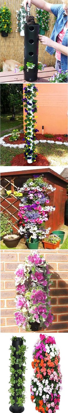 DIY Flower Tower (DIY Creative Ideas):