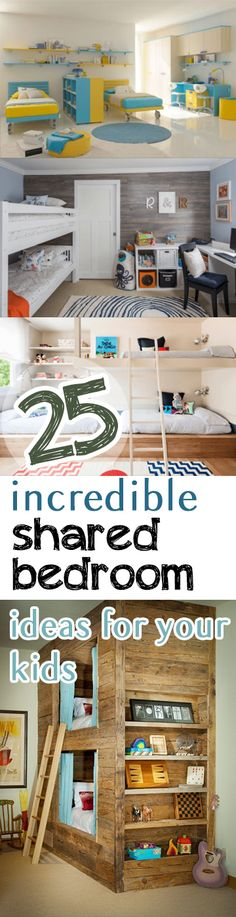 25 Incredible Shared Bedroom Ideas for your Kids