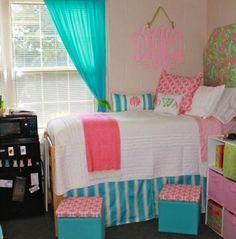 Single person monogram bedroom