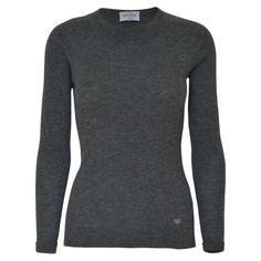 AW Classic Rib Pullover - Dark Grey