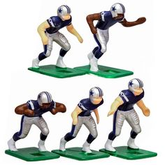 Dallas Cowboys Dark Uniform Action Figures Set