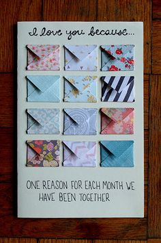 DIY Anniversary Card- done for Jeff's Anniversary Card 4/20/2013