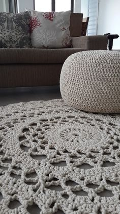 1.5 m D Oatmeal Thick string doilie style crochet mat