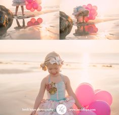 children's portrait photography details of girl with balloons #heidihopephotography