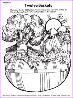 Twelve Baskets (Jesus Feeds 5,000) - Kids Korner - BibleWise
