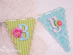 Baby sign with patterned paper