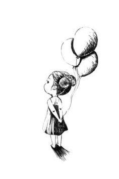 """Saatchi Art Artist Indrė Bankauskaitė; Drawing, """"Balloons"""" #art"""