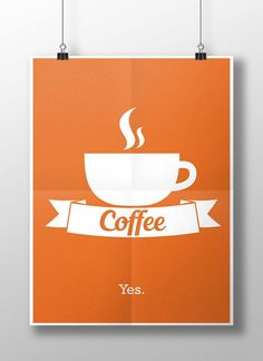 Flat Coffee Poster