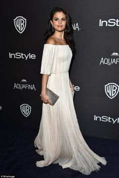 All white on the night:Selena Gomez ensured she pulled out all the stops as she stormed t...
