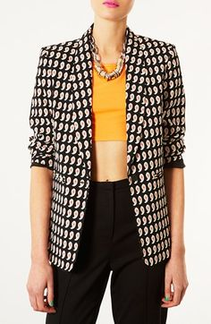 Topshop 'Juliet' Paisley Blazer available at #Nordstrom