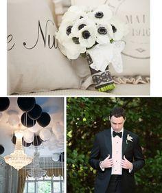 Inspiration mariage noir et blanc