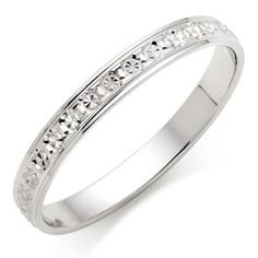 9ct White Gold Sparkle Wedding Ring