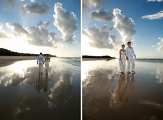 Wedding at Home Beach, North Stradbroke Island in QLD. Images by Marianna Massey.