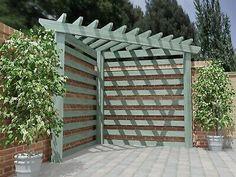 Diy Patio, Backyard Patio, Backyard Landscaping, Pergola Patio, Pergola Ideas, Backyard Ideas, New Build Garden Ideas, Free Pergola Plans, Small Garden Pergola