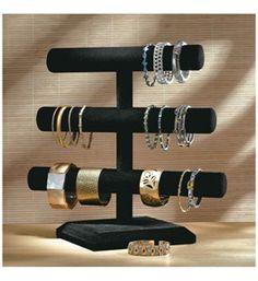 Velvet 3-Tier Jewelry Stand Image