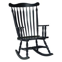 Have to have it. International Concepts Colonial Rocking Chair - Antique Black - $180.02 @hayneedle