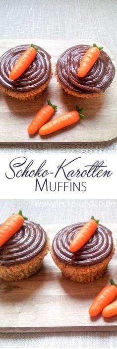 Karottenmuffins zu Ostern