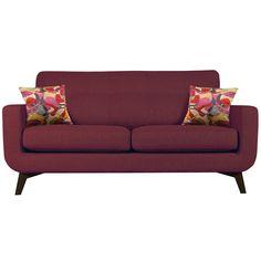 Buy John Lewis Barbican Medium Sofa, Cossette Lipstick / Dark Leg online at JohnLewis.com - John Lewis