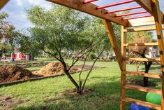 Monkey bar play equipment can be found everywhere, but can you imagine playing on this while surrounded by herbs, fruits and vegetables and the beauty of nature Natural Playground, Backyard Playground, Herb Farm, Play Yard, Play Equipment, Diy Bar, Most Beautiful Pictures, Monkey, Natural Beauty