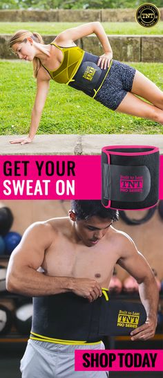 Say goodbye to slippery, stinky waist trimmers that slip out of place and become drenched with sweat and bacteria after each use and say hello to TNT Pro Series Waist Belt Trimmer. This belt traps body heat and helps you get your sweat on!  Shop today and get 10% off all orders using the promo code: TNTPRO.