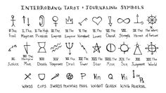 Our journaling adventures continue with a chart of symbols you can use to stand for the tarot cards in your notes, plus tips on how to design your own tarot glyphs. #InterrobangTarot #EvvieMarin #TarotJournaling
