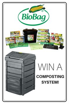 Enter to win the ultimate composting system from BioBag®! The composting system features a BuyGreen Soil Saver Composter and a BioBag® Sample Pack which contains their finest compostable products.  Enter at facebook.com/gardeningknowhow.  Giveaway ends midnight 10/15/17.