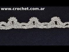 Puntilla N° 47 en tejido crochet tutorial paso a paso. - YouTube