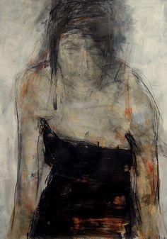urlof: Barbara Kroll mixed media on paper 100 x (via benwestdesign) L'art Du Portrait, Abstract Portrait, Figure Painting, Painting & Drawing, Art Des Gens, Art Sketches, Art Drawings, Guache, Art Abstrait