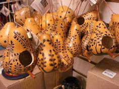 Little gourd birdhouses for your tree.