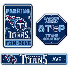 Fremont Die Tennessee Titans 3 Piece Sign Kit - NFLShop.com Tennessee Titans Football, Football Gear, Football Stuff, Football Shirts, Tn Titans, Football Bedroom, All Nfl Teams, Houston Oilers, Nfl Merchandise
