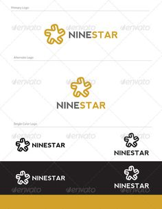 Nine Star Design NUM-002	  Logo Design Template Vector #logotype Download it here: http://graphicriver.net/item/nine-star-logo-design-num002/1679929?s_rank=199?ref=nesto
