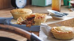 Aussie beef pies with beer and Vegemite Australian Beef, Australian Recipes, Individual Pies, Beef Pies, Pie Tin, Pie Recipes, Vegemite Recipes, Steak Recipes, Shortcrust Pastry
