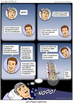 Chat Heads are definitely the best part of Facebook Home, but does Google CEO Larry Page agree? / El sistema de Chat con chapas con la foto del perfil es definitivamente la mejor parte de Facebook Home en Android, pero el CEO de Google, Larry Page, ¿estará muy de acuerdo?