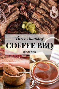 Coffee is the quintessential morning beverage (and early afternoon pick-me-up), but did you know coffee tastes incredible with meat? Coffee and beef make a particularly tasty combination, and these three BBQ recipes using coffee are packed with earthy, bold flavors that tease and tantalize your palate. With coffee and beef combined, you're in for a BBQ experience like you've never had before. #coffeerub #bbqrecipes #bbq