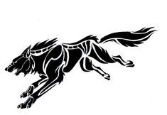 Here is 's completed tattoo design of a prowling tribal wolf. Commissioner's inked tattoo can be seen here: Please do not copy, trace, alter, or redistribute this anywhere in any way, shape, or for...