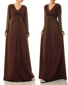Long dress jersey quartz