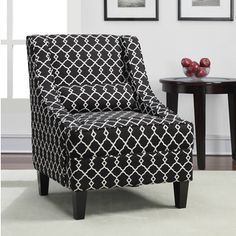 Overstock - Deluxe Accent Chair/ Ottoman - Give your home a modern ...