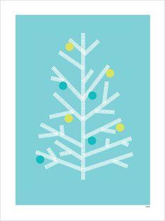 print >> washi tape wall xmas tree idea
