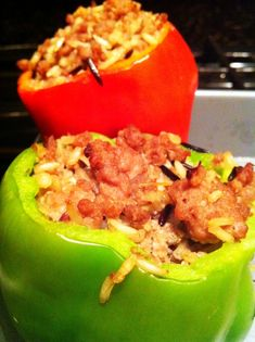 Recipe: Ground Turkey Stuffed Bell Peppers! Challenge recipe