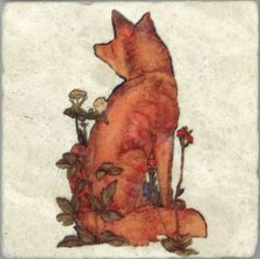 The Fox - by William Morris  #art #illustration