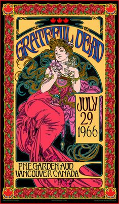 This Grateful Dead art nouveau Vancouver concert poster limited edition is just one of the custom, handmade pieces youll find in our music & movie posters shops. Rock Posters, Band Posters, Movie Posters, Vintage Concert Posters, Vintage Posters, Retro Posters, Stevie Nicks, Grateful Dead Poster, Grateful Dead Album Covers