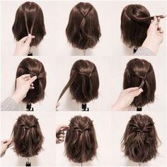 einfache aber schöne Frisur